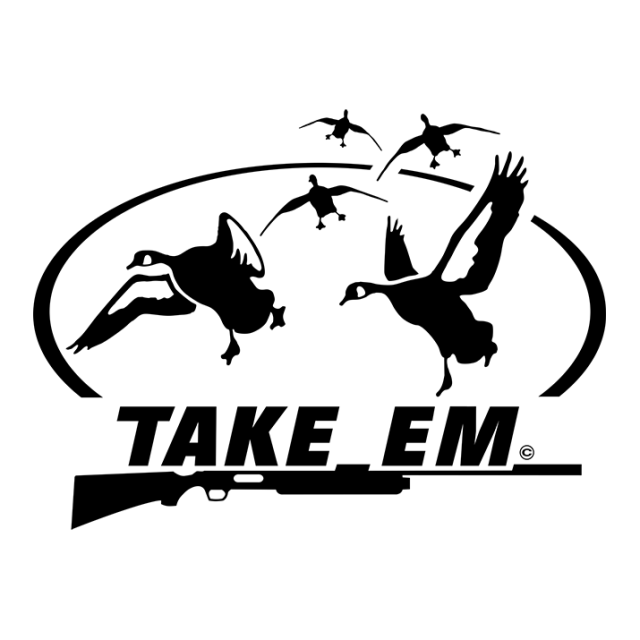 Take Em Goose Waterfowl Window Decal