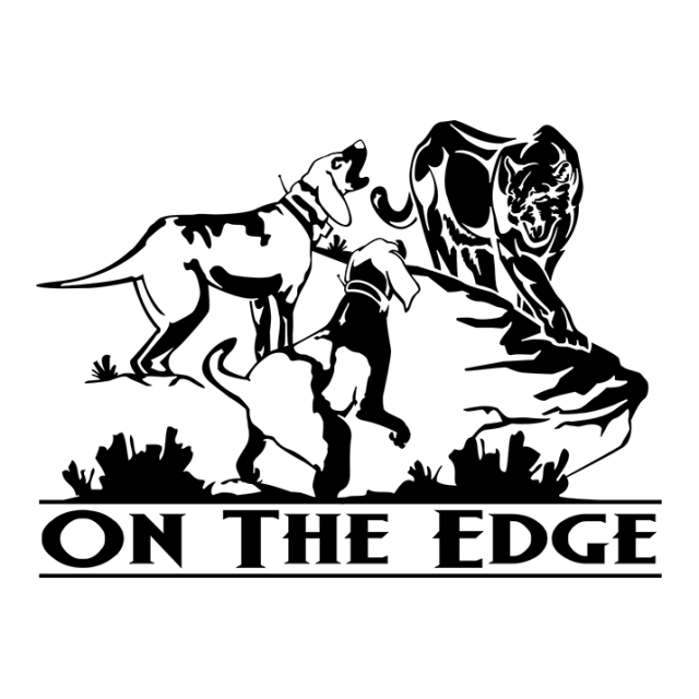 On The Edge Mountain Lion Window Decal