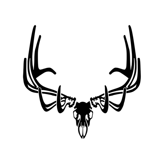 Elk European Skull Elk Decal