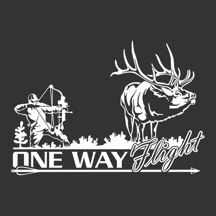 Bowhunter One Way Flight Elk Decal