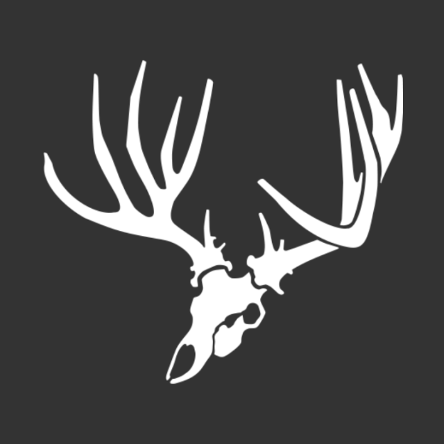 Angled Mule Deer Skull Decal