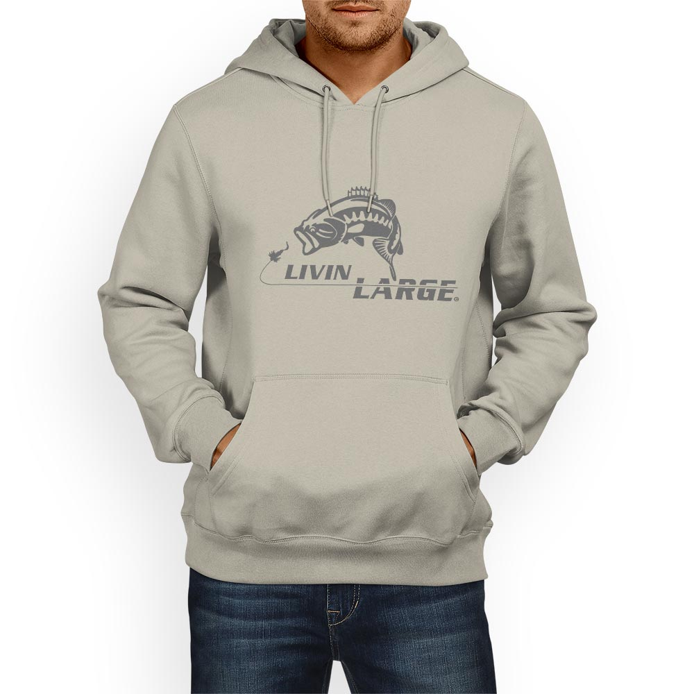 livin large bass fishing hoodie