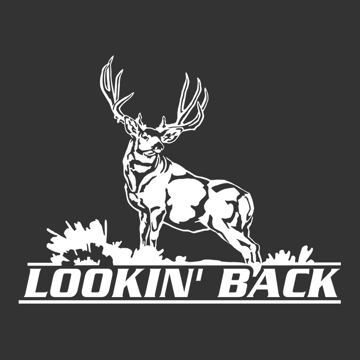 Lookin Back Mule Deer Window Decal - Rear window hunting decals for trucks