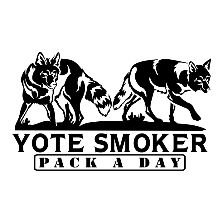 Yote Smoker Coyote Window Decal
